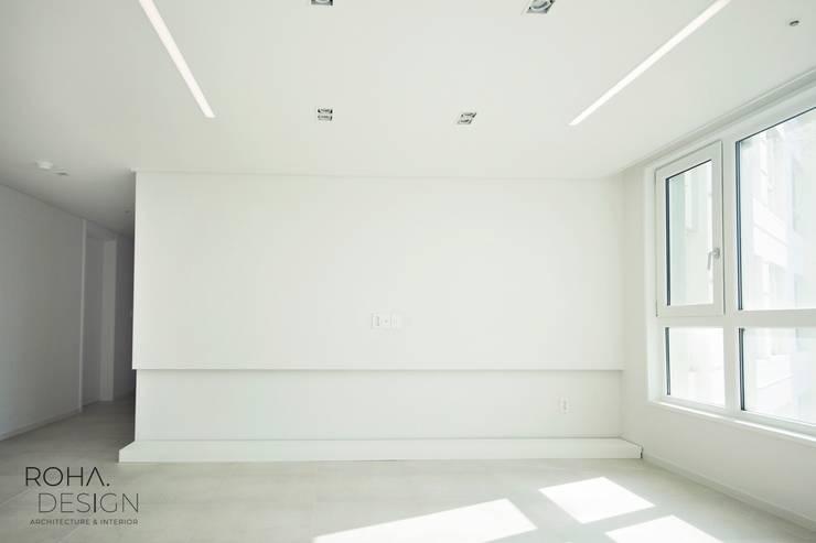 부산 해운대 센텀파크 아파트 인테리어: 로하디자인의  거실