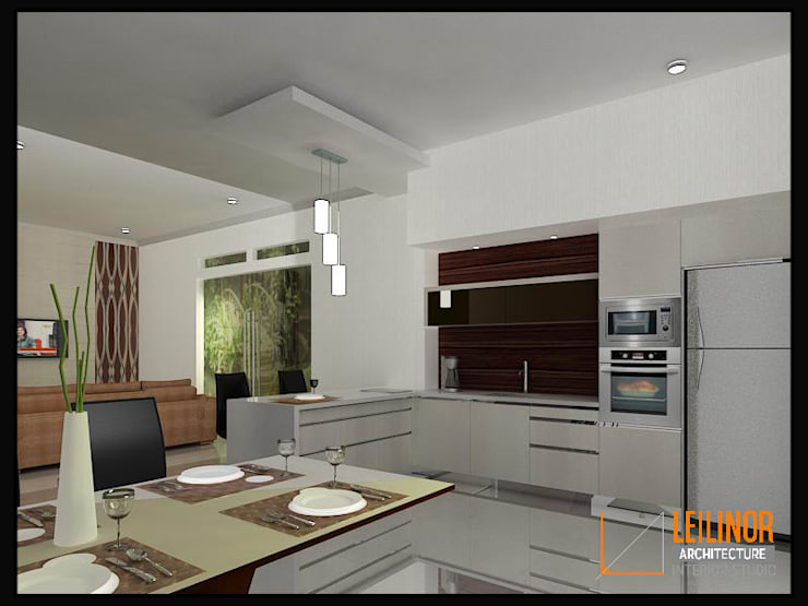 Modern Residential:  Dapur by CV Leilinor Architect