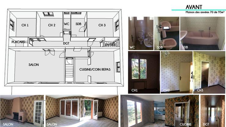 Rénovation d\'une maison des années 70 - Frontonas von 1.61 ...