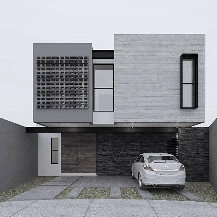 Residencia SZ [León, Gto.]: Casas unifamiliares de estilo  por 3C Arquitectos S.A. de C.V.