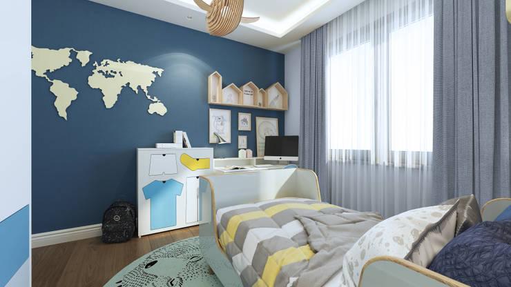 Duygu Solaker  – Erkek Çocuk Odası:  tarz Erkek çocuk yatak odası