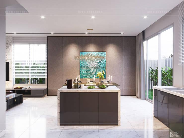 THIẾT KẾ BIỆT THỰ PALM CITY – Nét đẹp giao hòa trong không gian sống hiện đại:  Nhà bếp by ICON INTERIOR
