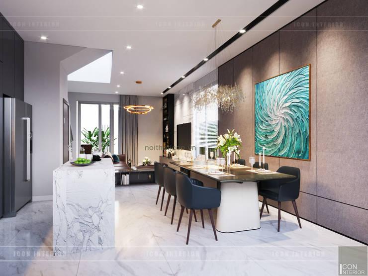 THIẾT KẾ BIỆT THỰ PALM CITY – Nét đẹp giao hòa trong không gian sống hiện đại:  Phòng ăn by ICON INTERIOR