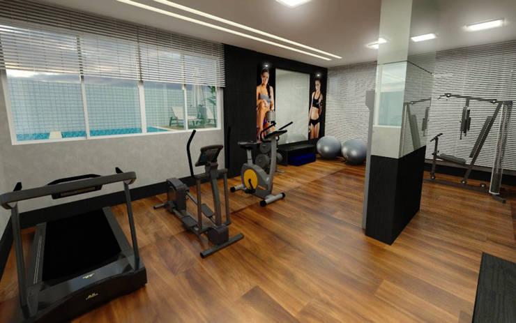 Academia: Fitness  por DRG ARQUITETURA