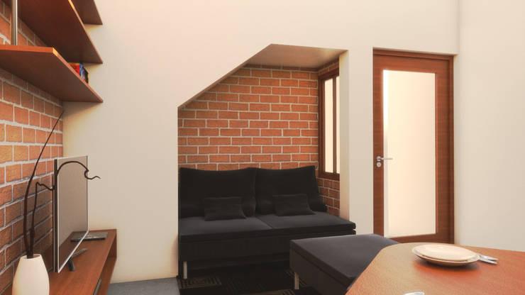 Unit  1 Studio Type Apartment:  Living room by MG Architecture Design Studio