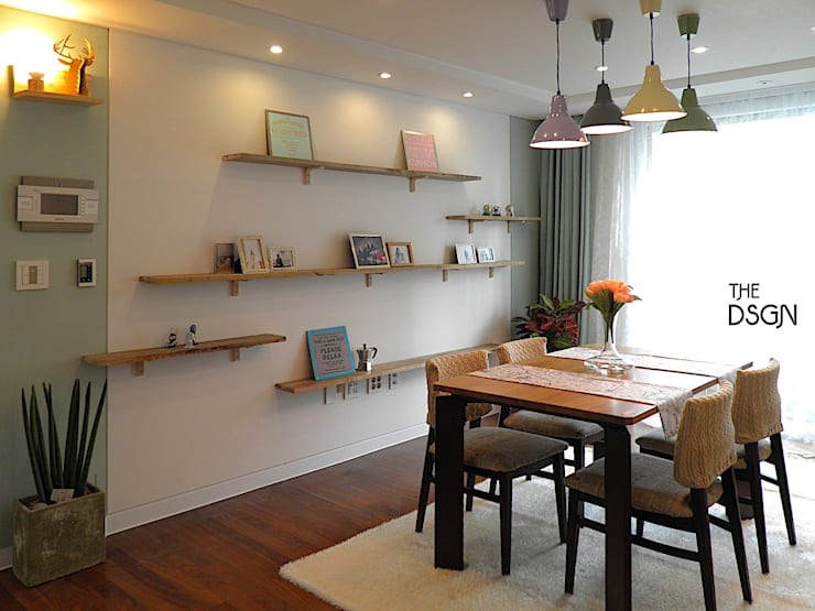 Living room by 더디자인 the dsgn, Eclectic