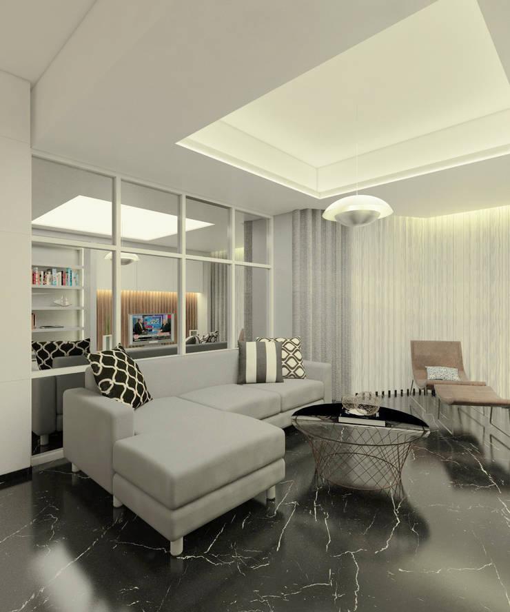 Project Apartemen Taman Anggrek:  Ruang Keluarga by PT. Magnolia Adi Sentosa