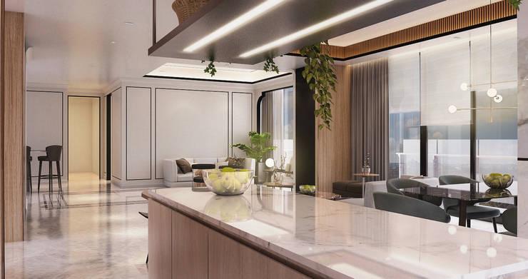 Veranda Apartement:  Dapur by nakula arsitek studio