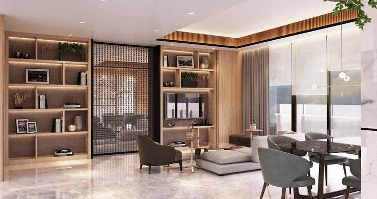 Veranda Apartement:  Ruang Keluarga by nakula arsitek studio