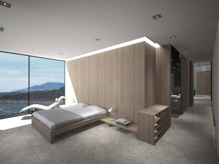 Master bedroom: Dormitorios de estilo minimalista de Studioapart