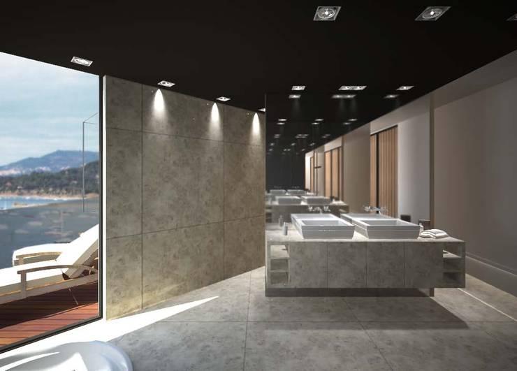Bathroom: Baños de estilo minimalista de Studioapart
