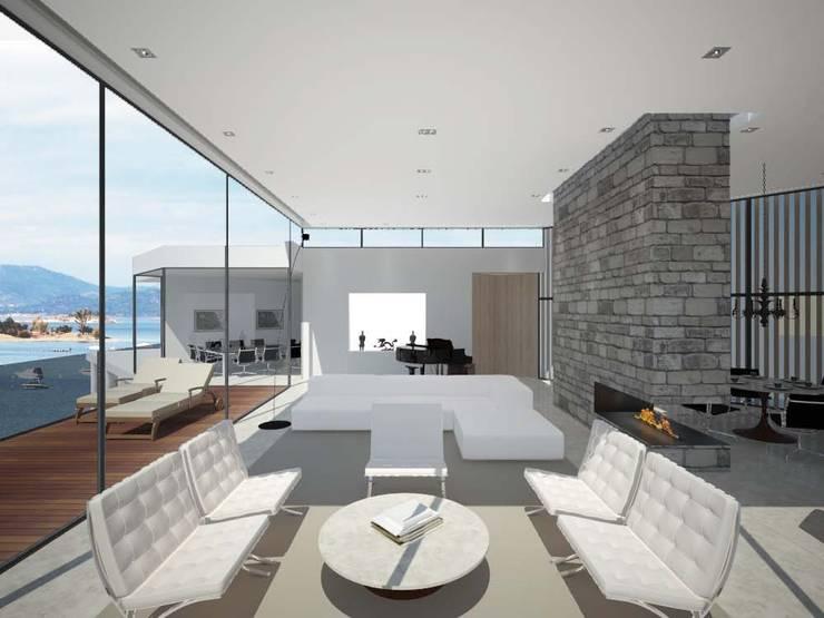 L: Salones de estilo minimalista de Studioapart