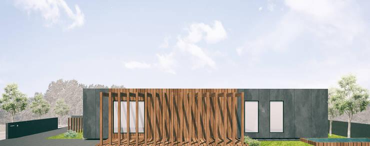 Alçado lateral: Casas  por Estúdio AMATAM