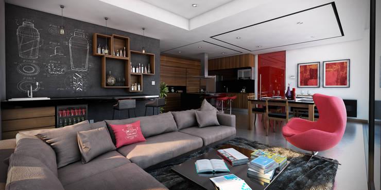 Salas / recibidores de estilo  por Stuen Arquitectos