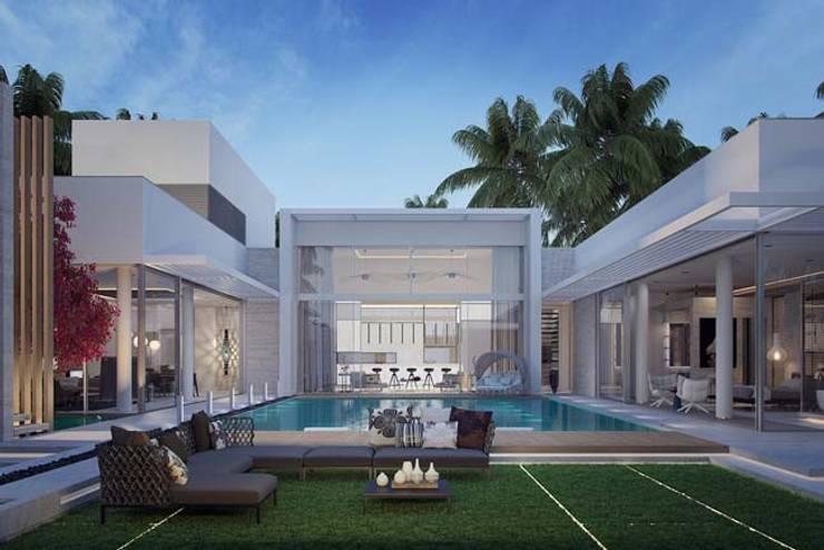 Phối cảnh biệt thự 1 tầng hiện đại:   by Biet Thu Hien Dai
