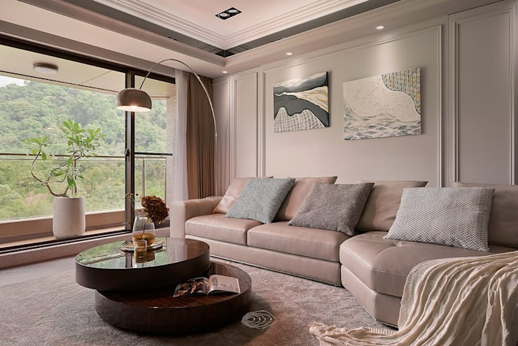 ห้องนั่งเล่น by 層層室內裝修設計有限公司