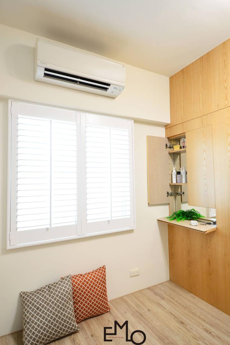 不被侷限的收納:  臥室 by 以莫室內裝修工程有限公司
