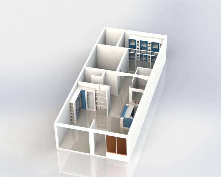 Modelado Propuesta de Intervención:  de estilo  por MARROOM | Diseño Interior - Diseño Industrial