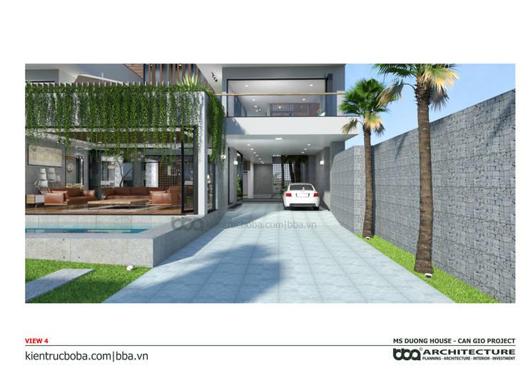 Thiết kế biệt thự Ms. Dương | Cần Giờ | Kiến trúc Bộ Ba:   by Công ty Cổ phần Thiết kế Xây dựng Bộ Ba