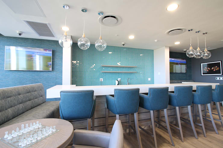Bar Area:  Commercial Spaces by Projector & Sound Services (PTY) Ltd