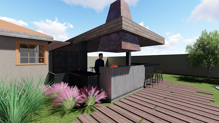 Quincho Hannover, La Reina:  de estilo  por m2 estudio arquitectos