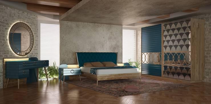 Inan AYDOGAN /IA  Interior Design Office – Bedroom Products 3:  tarz Yatak Odası