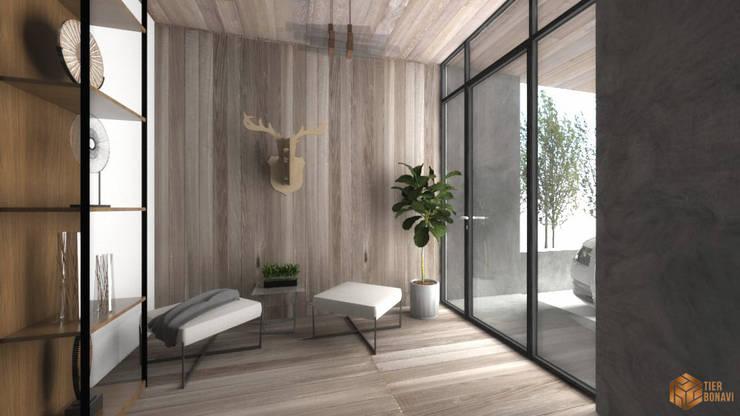 Rumah Pohon di Dalam:  Ruang Keluarga by Tierbonavi
