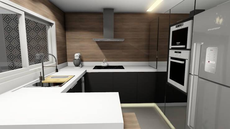 Cozinha: Armários e bancadas de cozinha  por Studio²