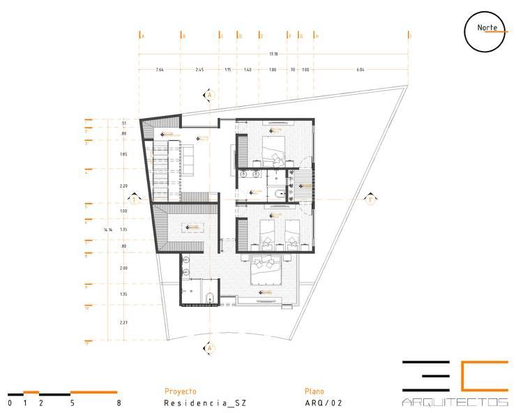 Residencia SZ [León, Gto.]:  de estilo  por 3C Arquitectos S.A. de C.V.