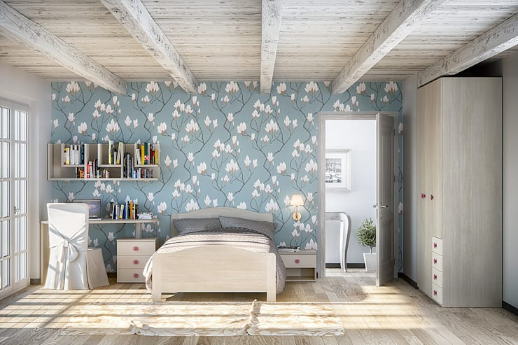 Furlan camera per ragazzi: Camera da letto in stile in stile Eclettico di ROOM 66 KITCHEN&MORE