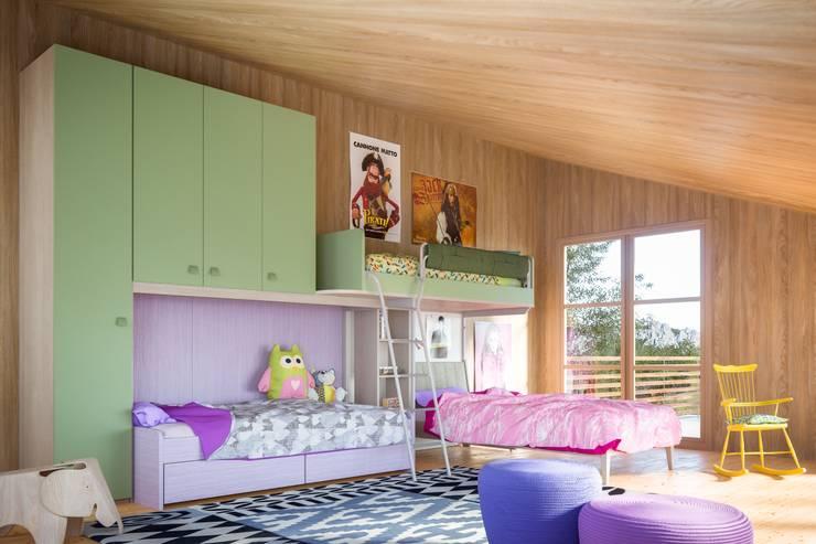 Camerette da sogno: Camera da letto in stile  di ROOM 66 KITCHEN&MORE