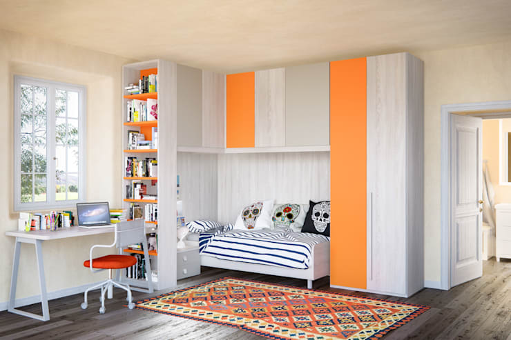 Furlan camera da ragazzo composizione angolare: Camera da letto in stile  di ROOM 66 KITCHEN&MORE