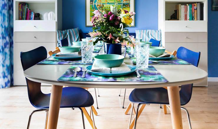Eethoek, verlengde tafel:  Eetkamer door Regina Dijkstra Design, Eclectisch