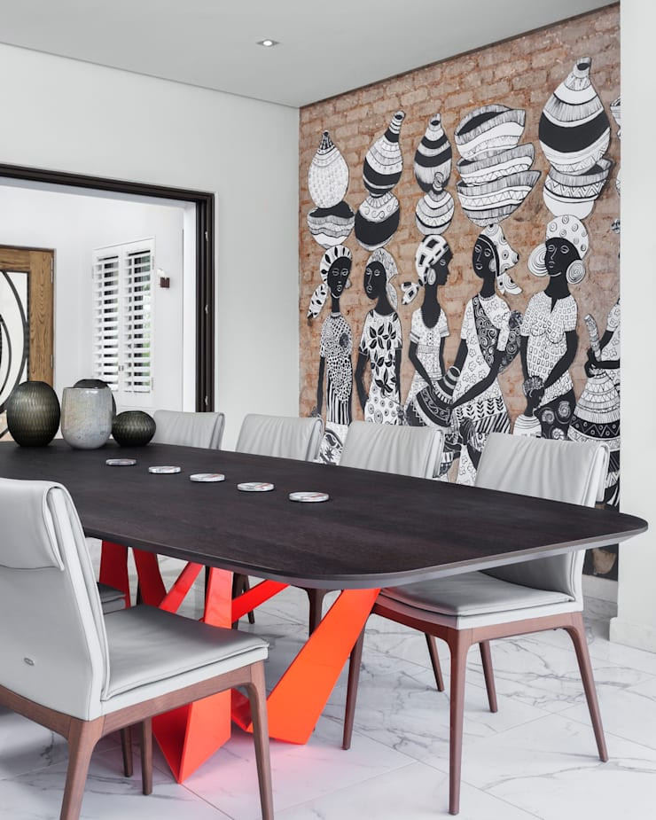 African Art meets European Design Fusion:   by Deborah Garth Interior Design