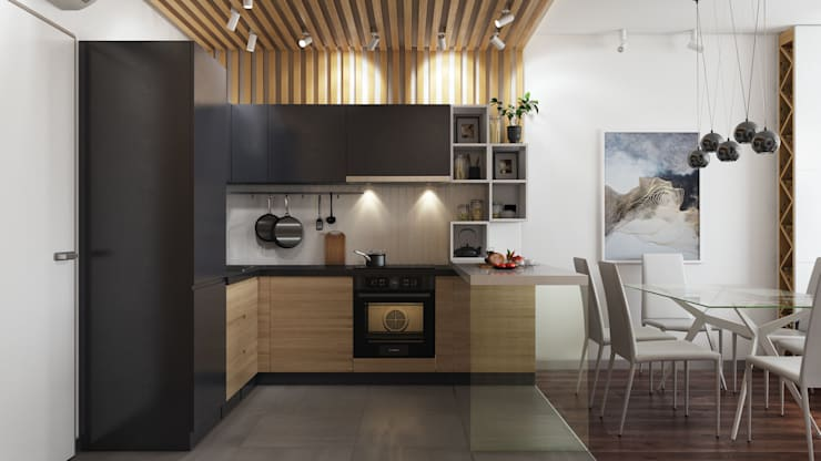 Projekty,  Kuchnia zaprojektowane przez GraniStudio