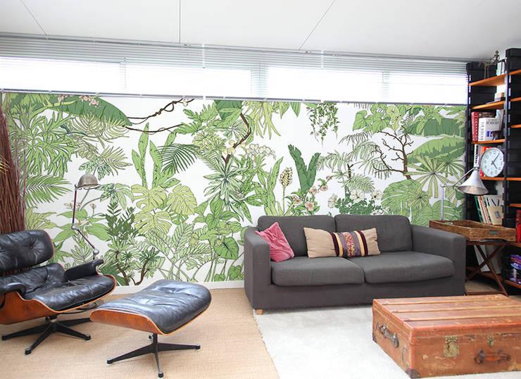 papier peint jungle tropical bali par ohmywall homify. Black Bedroom Furniture Sets. Home Design Ideas