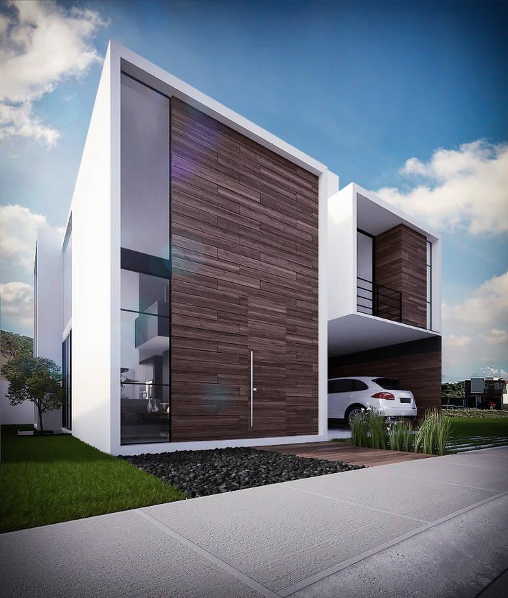 Fachada Principal: Casas unifamiliares de estilo  por RTstudio