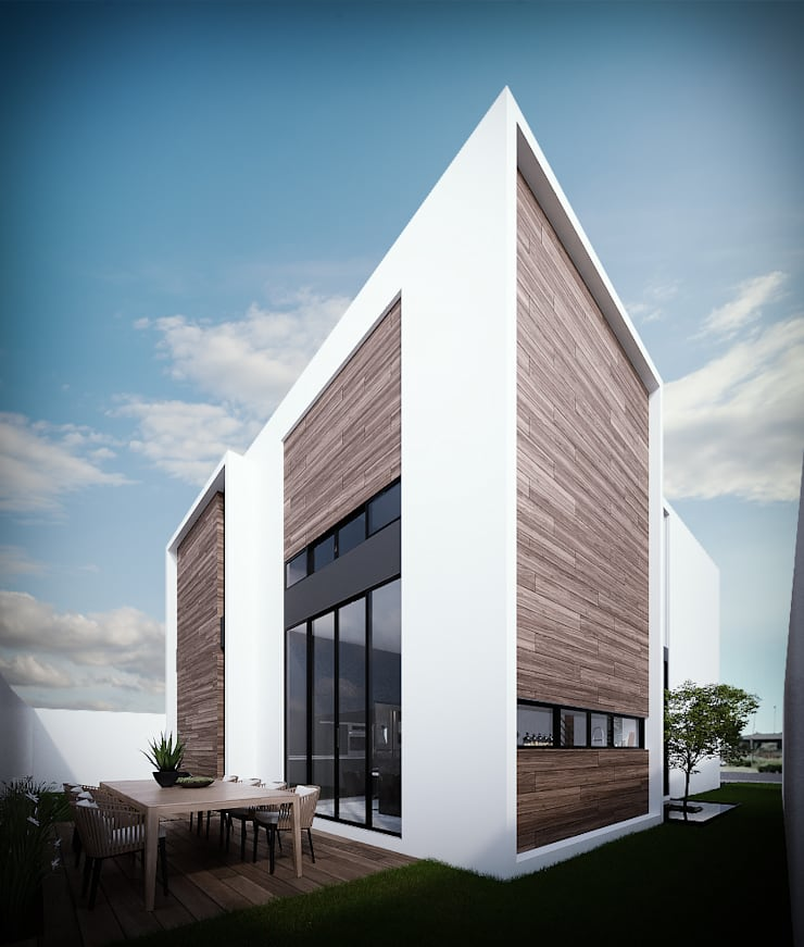 Fachada Posterior: Casas unifamiliares de estilo  por RTstudio