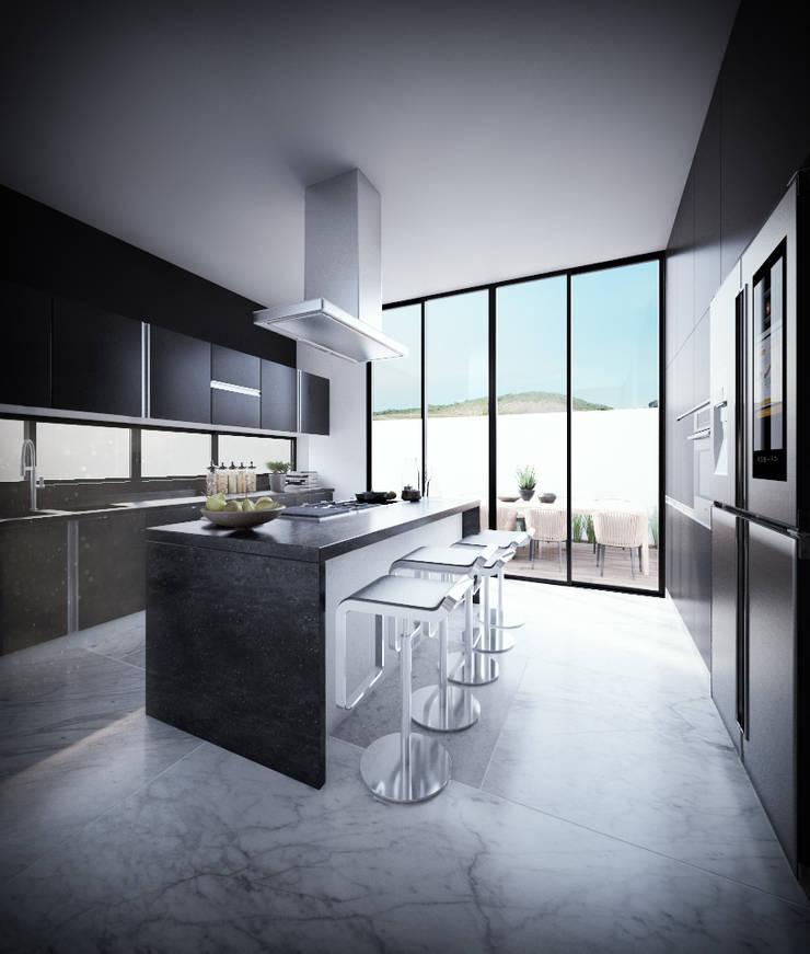 Cocina: Cocinas equipadas de estilo  por RTstudio