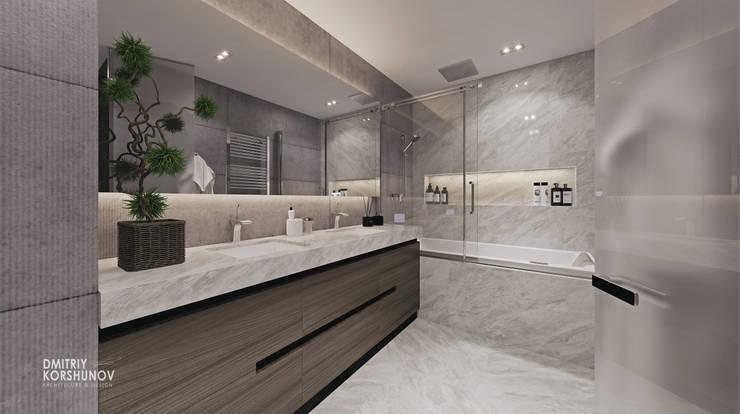 ЖК «Рублевские огни» | Residential complex «Rublevskie ogni»: Ванные комнаты в . Автор – Дмитрий Коршунов