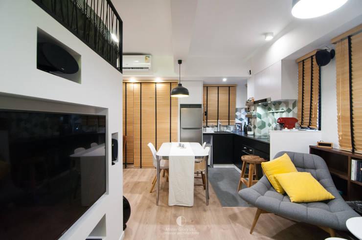 1:  Living room by Mister Glory Ltd, Modern