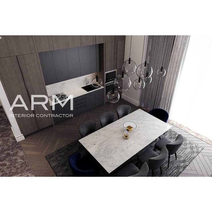 Interior Apartemen Jakarta:  Dapur by PT Adhi Rajasa Mahawirya