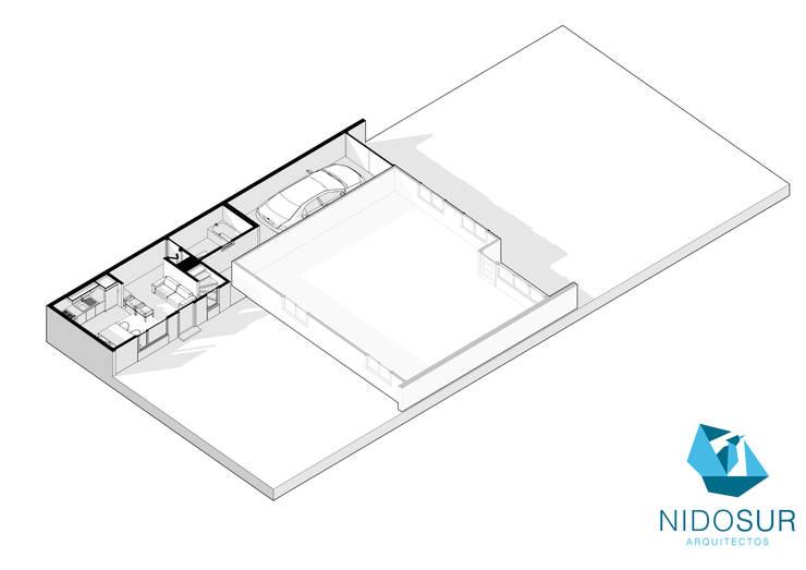 Planos: Casas unifamiliares de estilo  por NidoSur Arquitectos - Valdivia