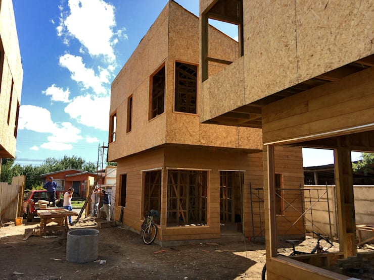 Fachada: Condominios de estilo  por NidoSur Arquitectos