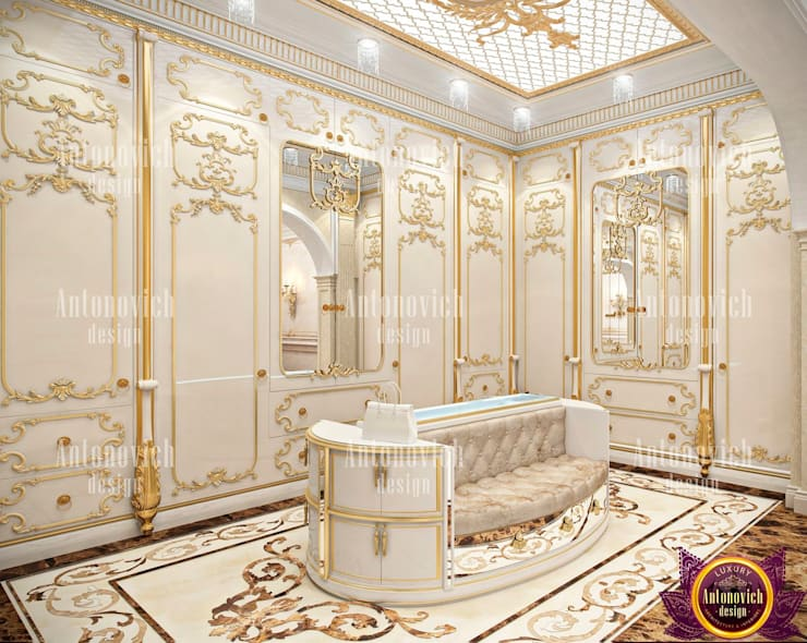 Womanly Interior Design by Katrina Antonovich:  Dressing room by Luxury Antonovich Design
