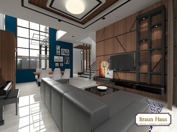 Urban House:  Ruang Keluarga by Braun Haus