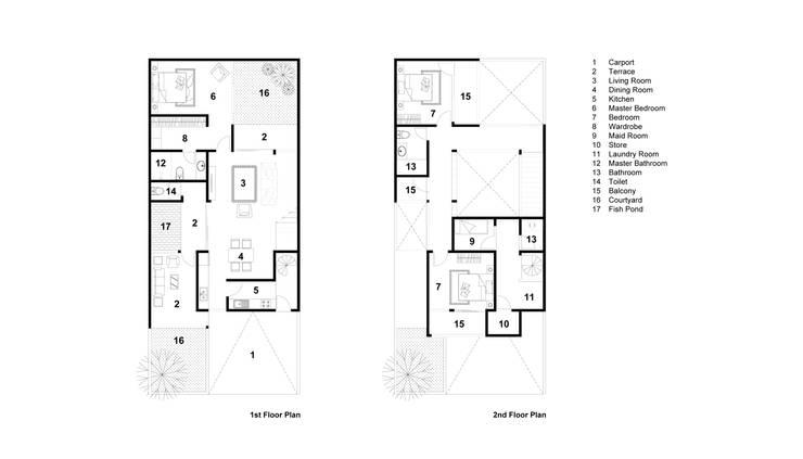 Floor Plan: Rumah tinggal  oleh Rekabentuk ID, Modern Beton
