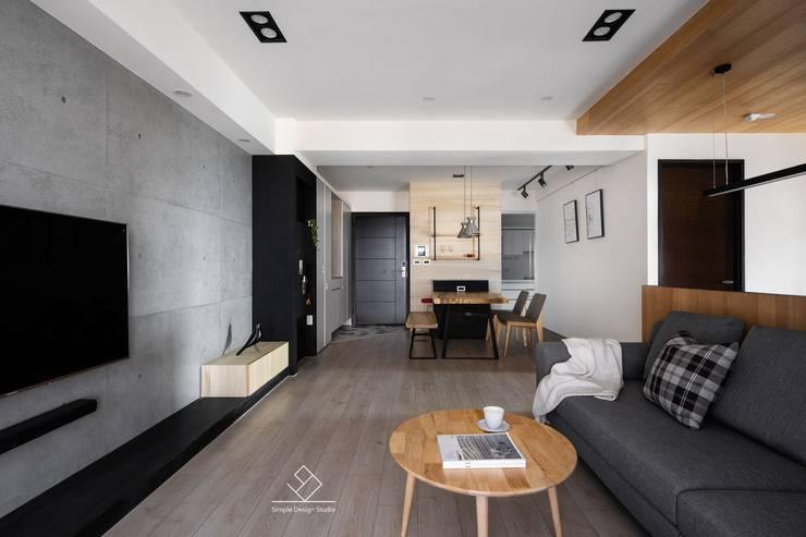 公共空間:  地板 by 極簡室內設計 Simple Design Studio