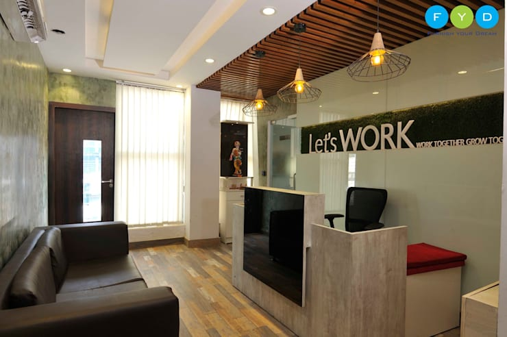 Let's Work—Coworking Space in Noida:  Offices & stores by FYD Interiors Pvt. Ltd