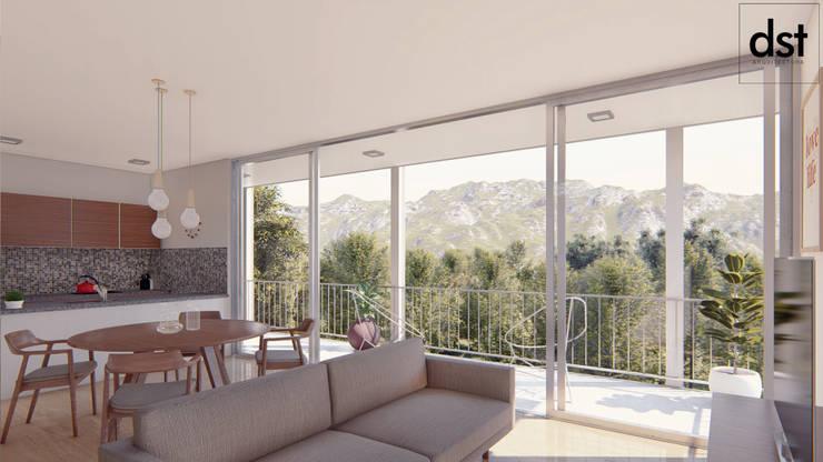 Casa Díaz: Livings de estilo  por DST arquitectura